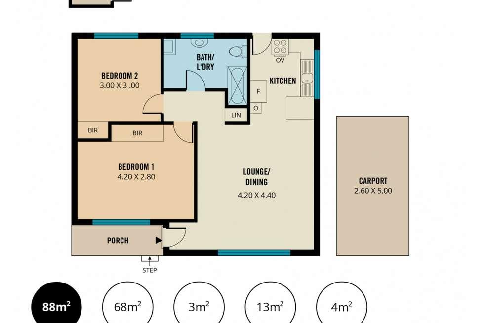 Floorplan of Homely house listing, 3/38 Ferris Street, Christies Beach SA 5165