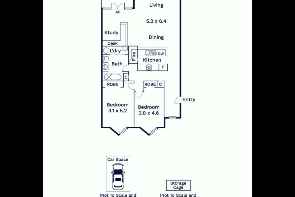Floorplan of Homely apartment listing, 19/1 Gatehouse Drive, Kensington VIC 3031