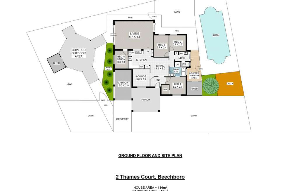 Floorplan of Homely house listing, 2 Thames Court, Beechboro WA 6063