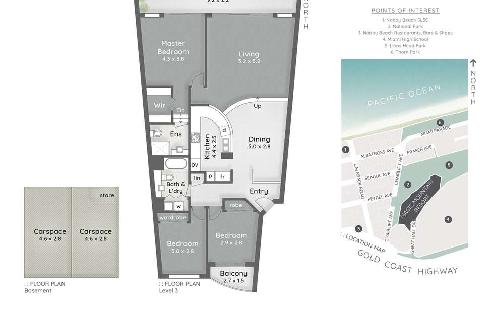 Floorplan of Homely apartment listing, 34/1 Great Hall Drive, Miami QLD 4220