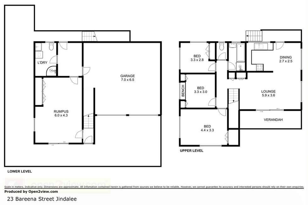Floorplan of Homely house listing, 23 Bareena Street, Jindalee QLD 4074