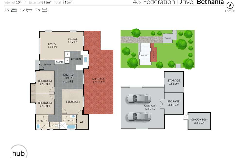 Floorplan of Homely house listing, 45 Federation Drive, Bethania QLD 4205