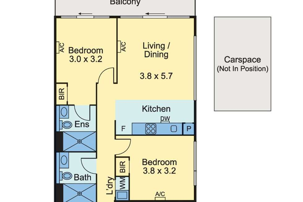 Floorplan of Homely apartment listing, 2 Bedroom/350 William Street, Melbourne VIC 3000