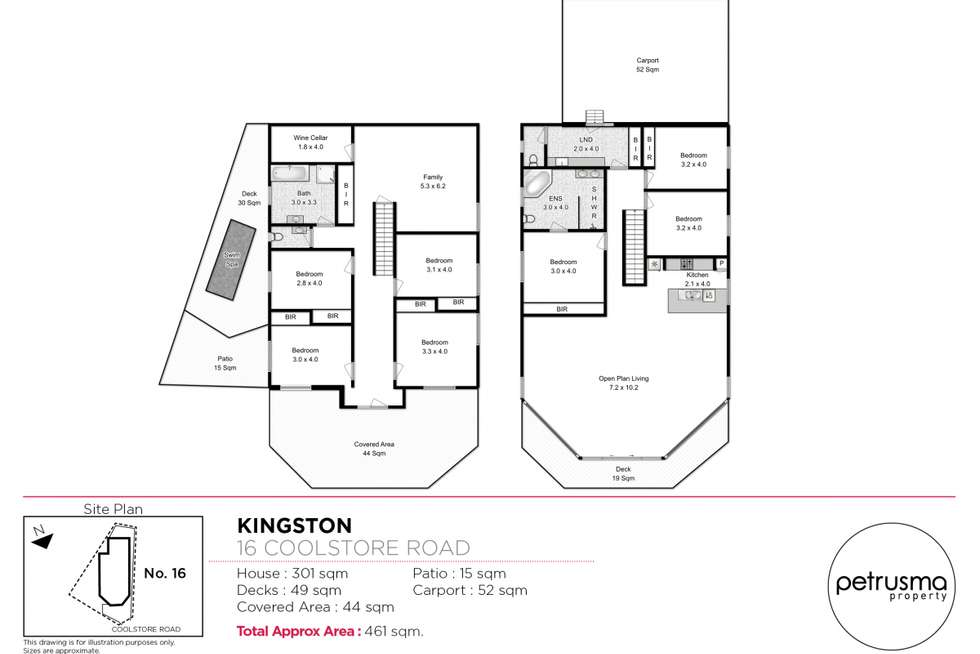 Floorplan of Homely house listing, 16 Coolstore Road, Huonville TAS 7109