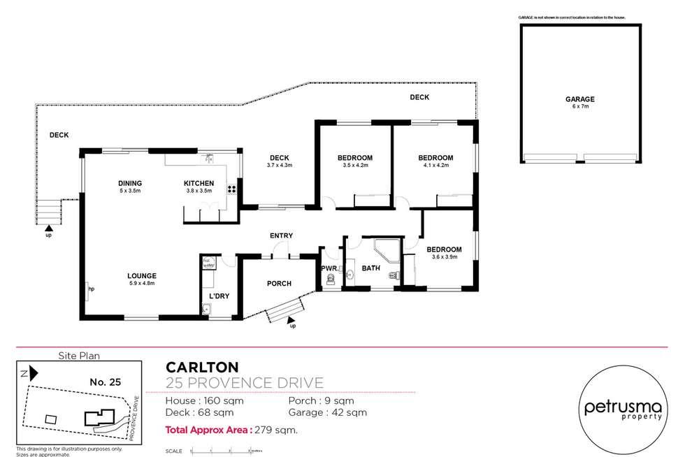 Floorplan of Homely house listing, 25 Provence Drive, Carlton TAS 7173