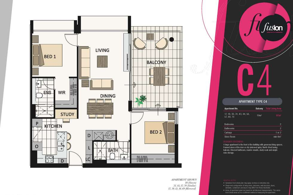 Floorplan of Homely apartment listing, 57/8 Riversdale Road, Burswood WA 6100