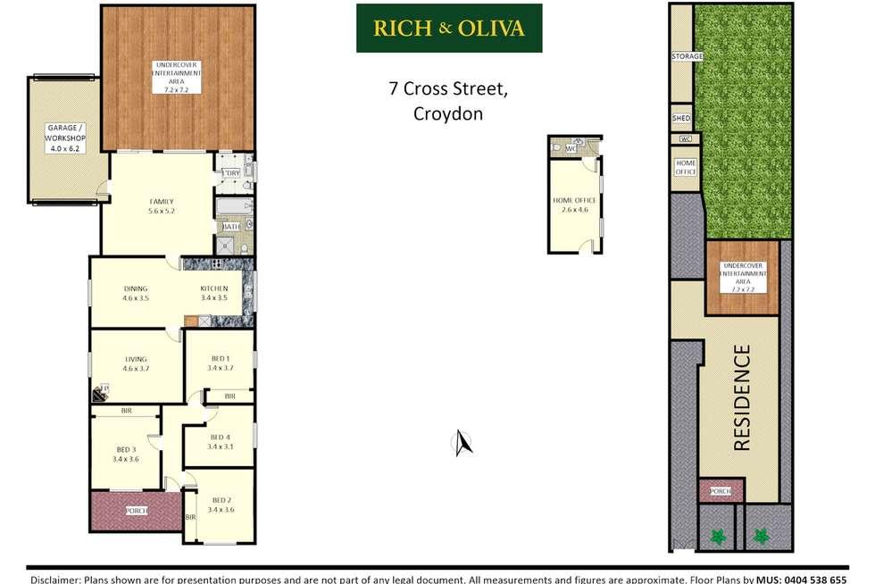 Floorplan of Homely house listing, 7 Cross Street, Croydon NSW 2132