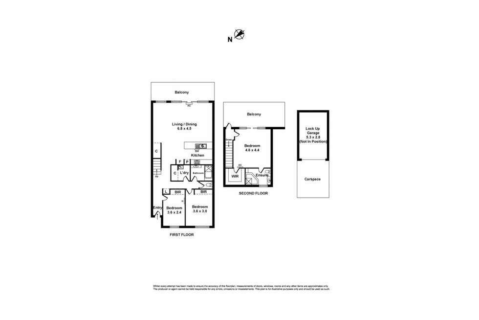 Floorplan of Homely townhouse listing, 6/1 Saltriver Place, Footscray VIC 3011