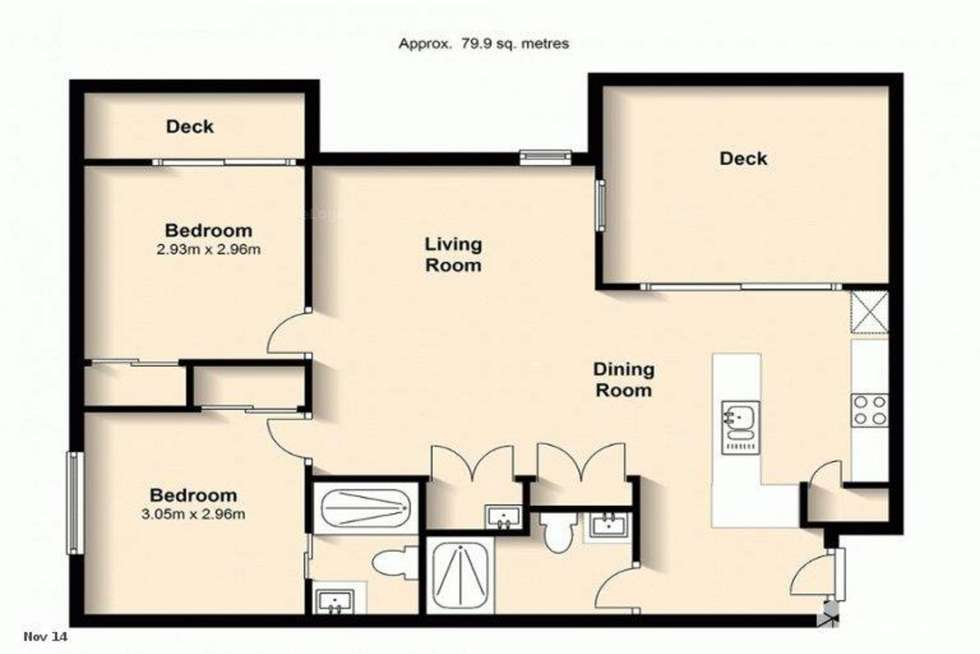 Floorplan of Homely unit listing, 9/45 Hill Crescent, Carina Heights QLD 4152