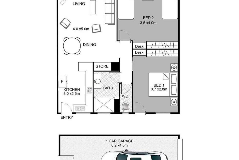 Floorplan of Homely unit listing, 10/27-29 Burgess Street, Kings Beach QLD 4551