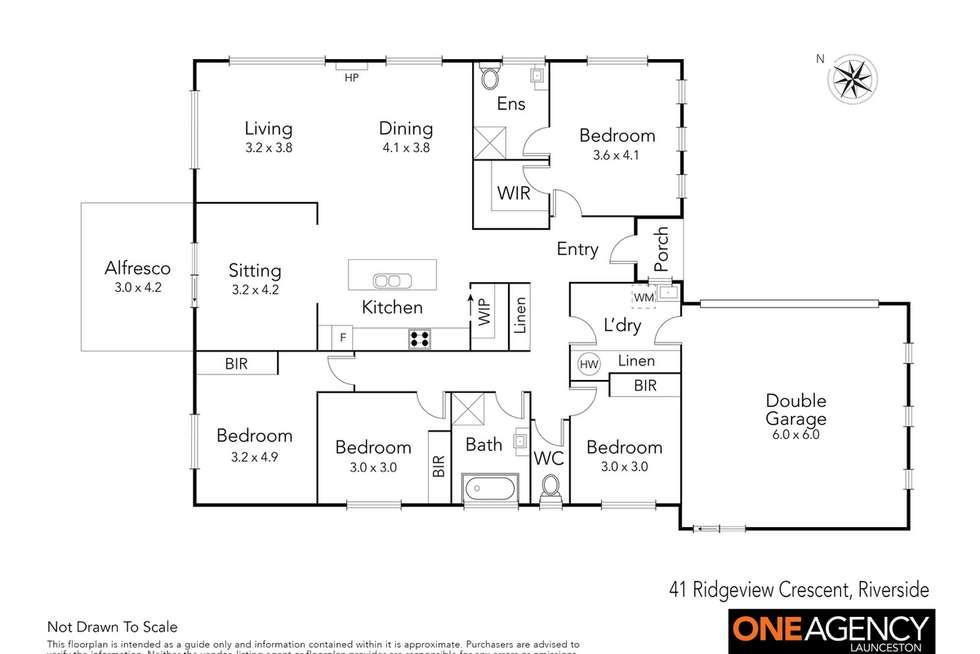 Floorplan of Homely house listing, 41 Ridgeview Crescent, Riverside TAS 7250