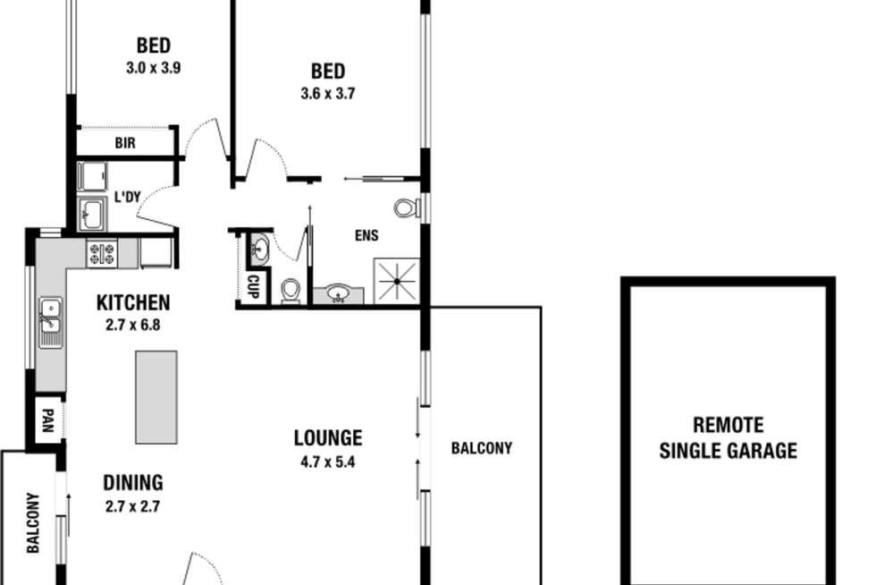 Floorplan of Homely townhouse listing, 5/3 Carnarvon Street, Doncaster VIC 3108