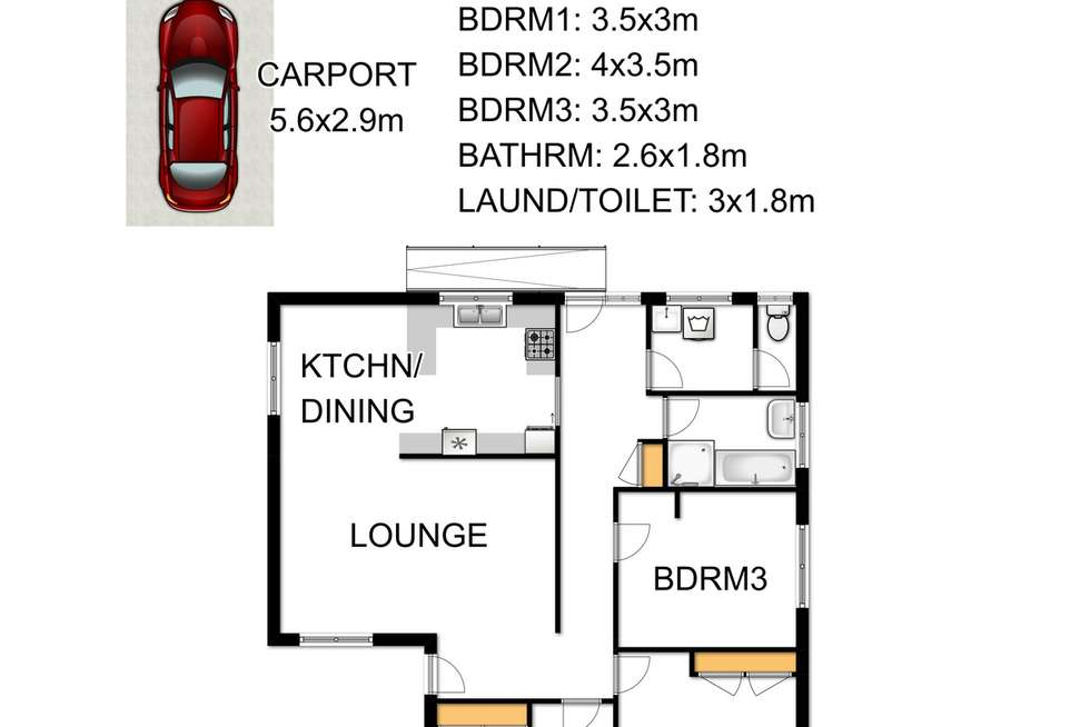Floorplan of Homely house listing, 227 Dawson Street, Sale VIC 3850