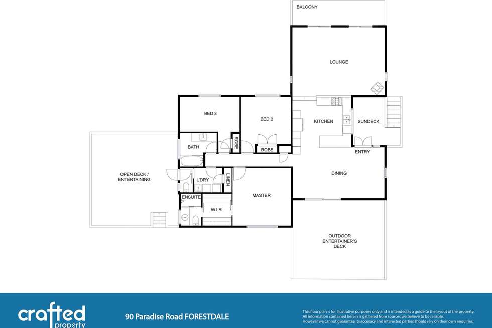 Floorplan of Homely house listing, 90 Paradise Road, Forestdale QLD 4118