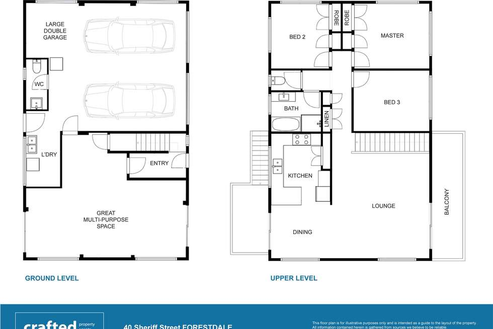 Floorplan of Homely house listing, 40 Sheriff Street, Forestdale QLD 4118