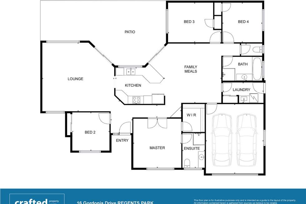 Floorplan of Homely house listing, 16 Gordonia Drive, Regents Park QLD 4118