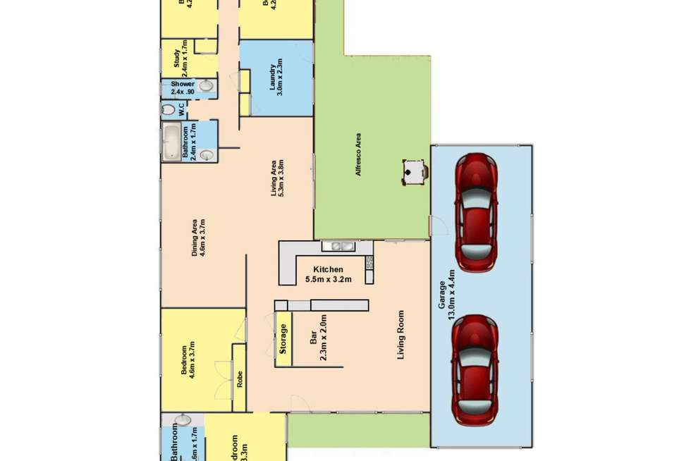 Floorplan of Homely house listing, 19 Thomson Street, Sale VIC 3850