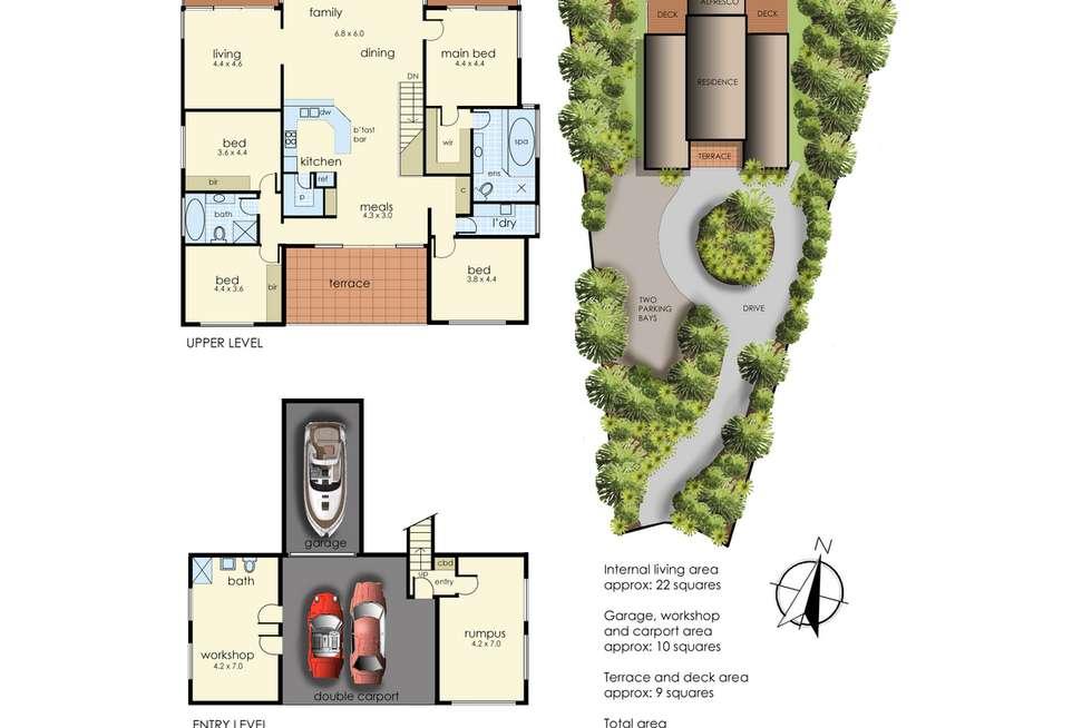 Floorplan of Homely house listing, 4 Debra Court, Tootgarook VIC 3941
