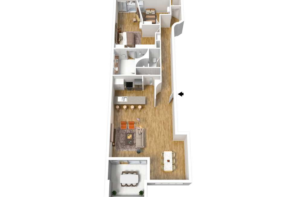 Floorplan of Homely apartment listing, 8A/8 Hurtle Square, Adelaide SA 5000