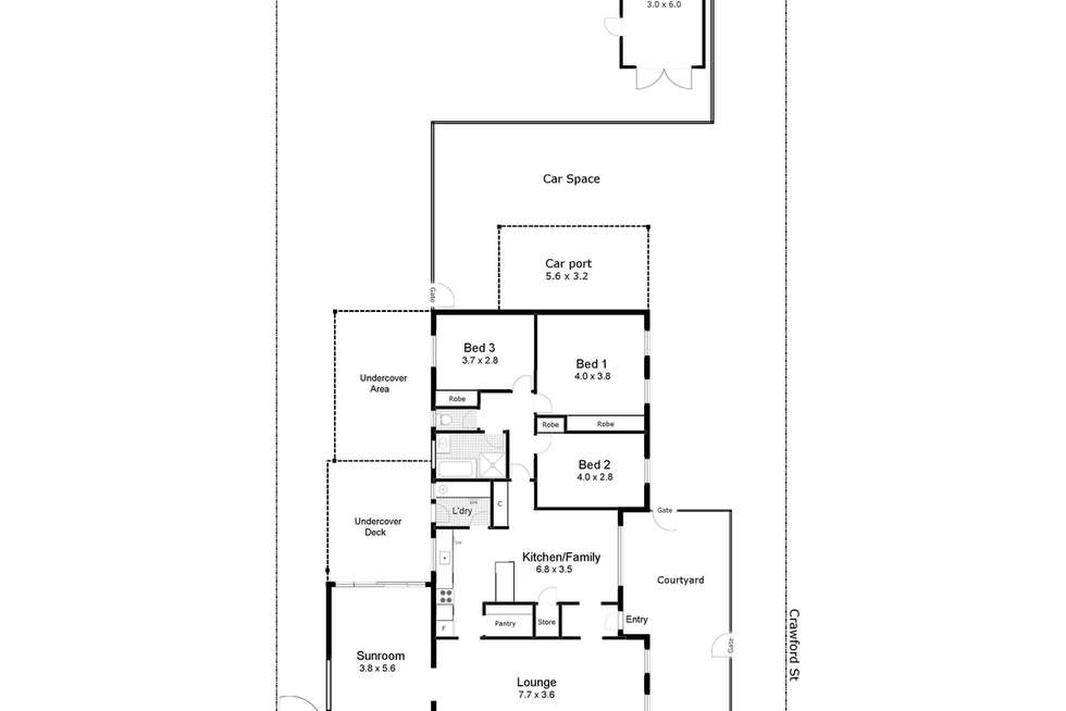 Floorplan of Homely house listing, 5 Crisp Drive, Ashmont NSW 2650