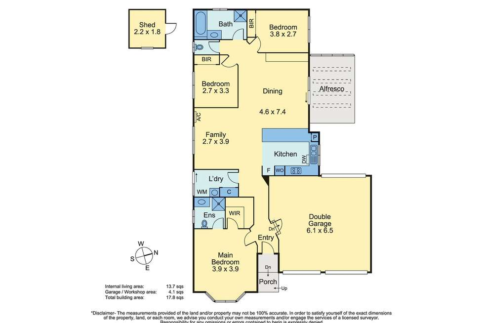 Floorplan of Homely house listing, 12 Lawson Court, Mornington VIC 3931