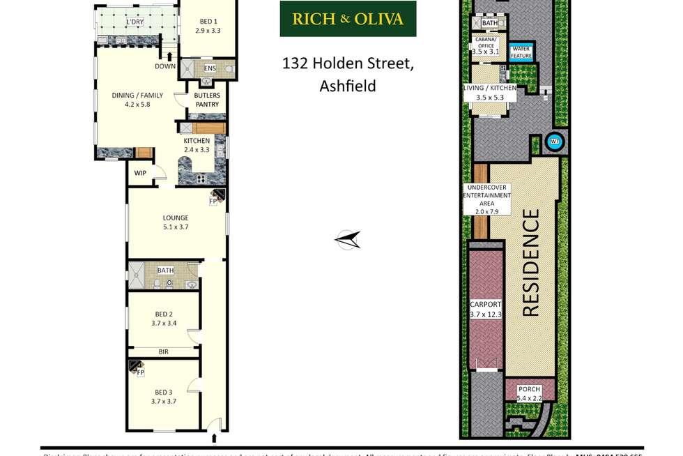 Floorplan of Homely house listing, 132 Holden Street, Ashfield NSW 2131
