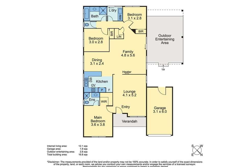 Floorplan of Homely house listing, 22 Lavender Lane, Baxter VIC 3911