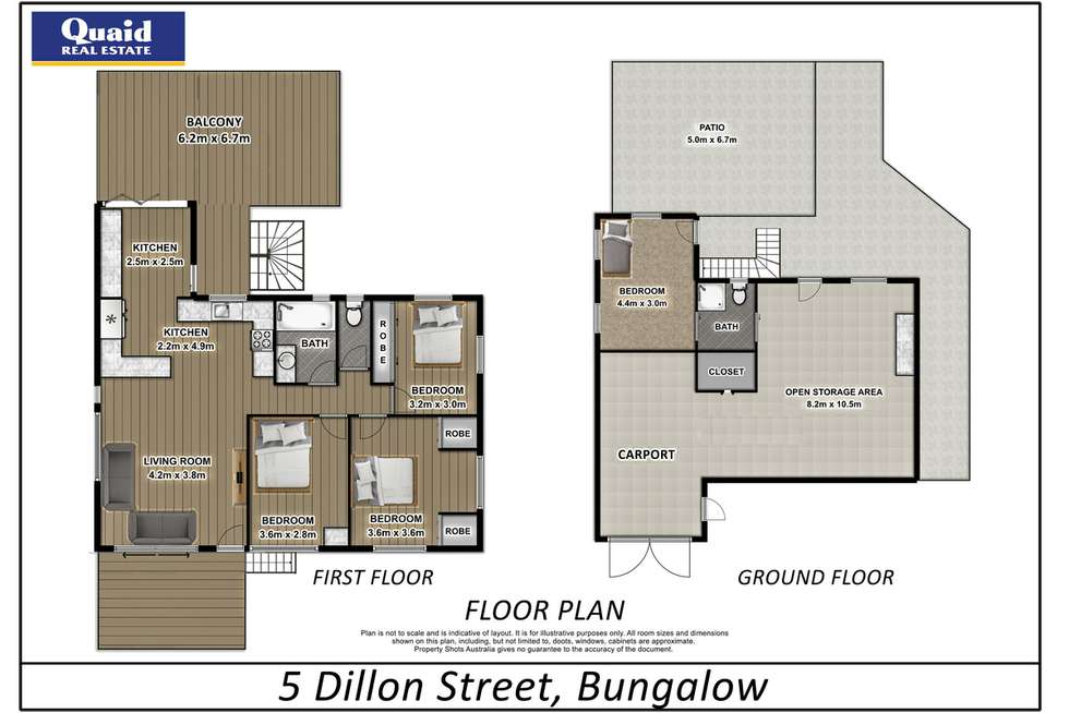 Floorplan of Homely house listing, 5 Dillon Street, Bungalow QLD 4870