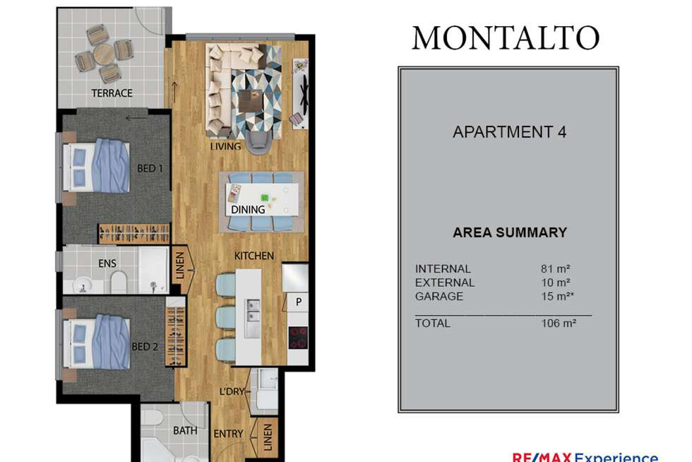 Floorplan of Homely apartment listing, 4/19 Jones Road, Carina Heights QLD 4152