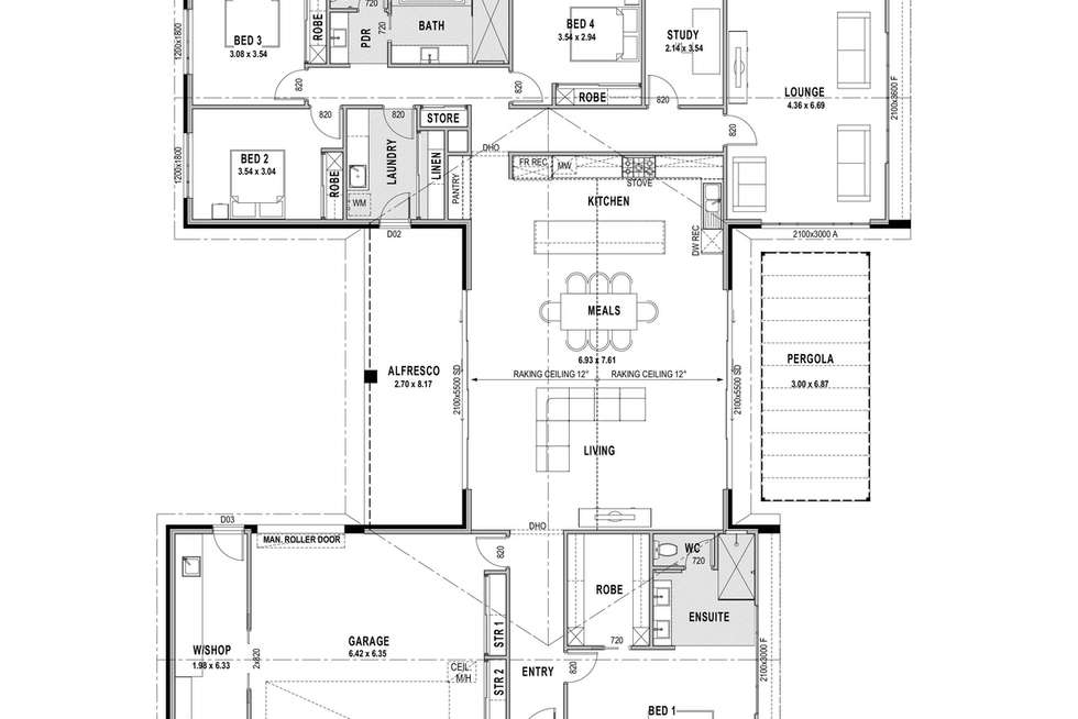 Floorplan of Homely house listing, 12 Charlton Road, Killara VIC 3691