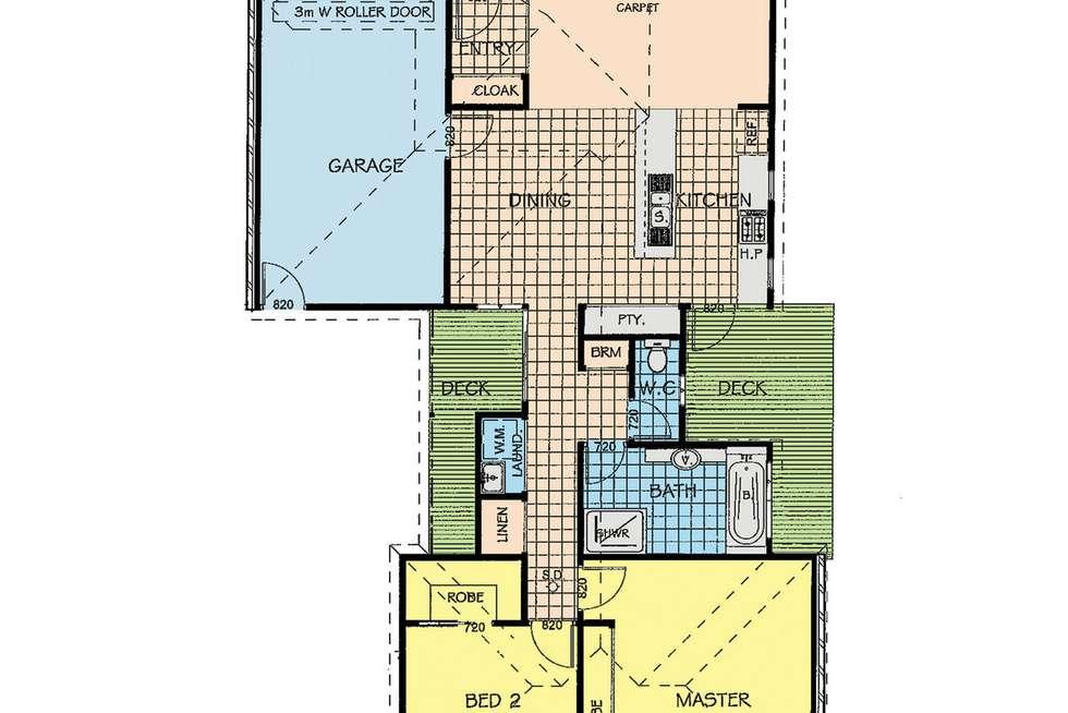 Floorplan of Homely townhouse listing, 2/460 Raymond Street, Sale VIC 3850