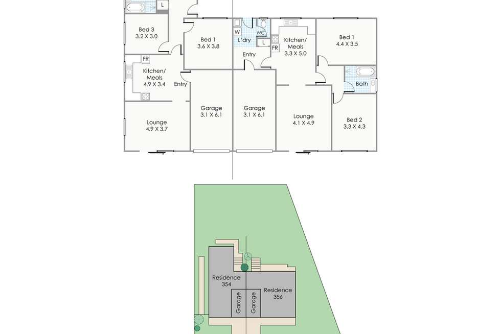 Floorplan of Homely house listing, 354 & 356 Odin Drive, Stirling WA 6021