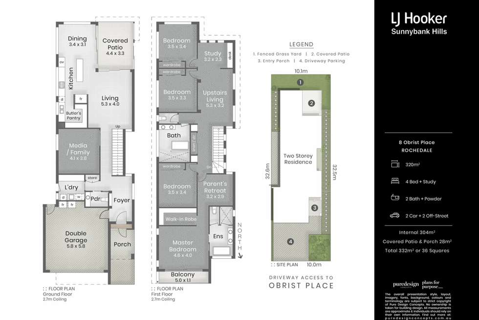 Floorplan of Homely house listing, 8 Obrist Place, Rochedale QLD 4123