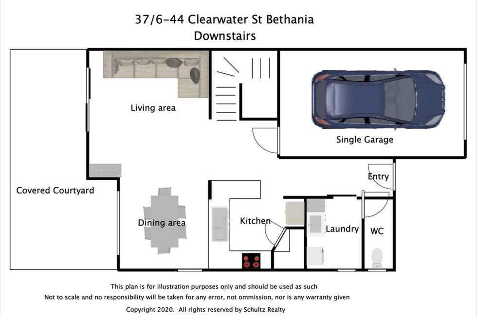 Floorplan of Homely townhouse listing, 37/6-44 Clearwater Street, Bethania QLD 4205
