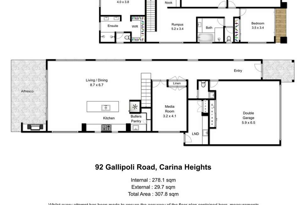Floorplan of Homely house listing, 92 Gallipoli Road, Carina Heights QLD 4152