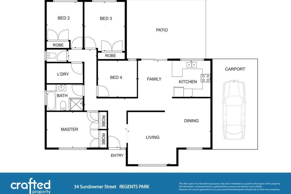 Floorplan of Homely house listing, 34 Sundowner Street, Regents Park QLD 4118