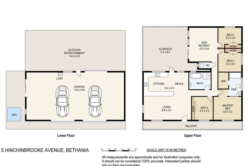 Floorplan of Homely house listing, 5 Hinchinbrook Avenue, Bethania QLD 4205
