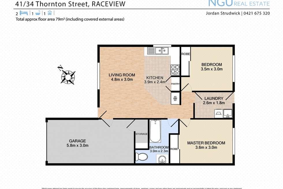 Floorplan of Homely unit listing, 41/34 Thornton Street, Raceview QLD 4305