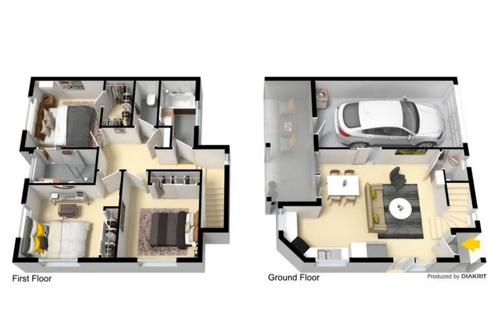 Floorplan of Homely townhouse listing, 12/16 David Street, Burpengary QLD 4505