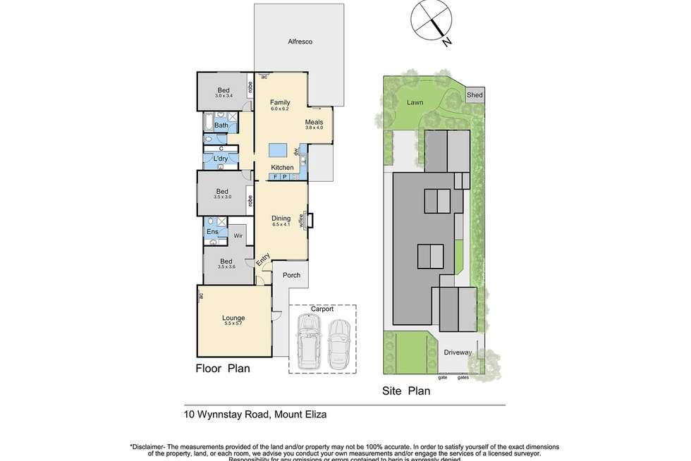 Floorplan of Homely house listing, 10 Wynnstay Road, Mount Eliza VIC 3930