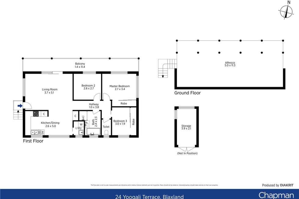 Floorplan of Homely house listing, 24 Yoogali Terrace, Blaxland NSW 2774