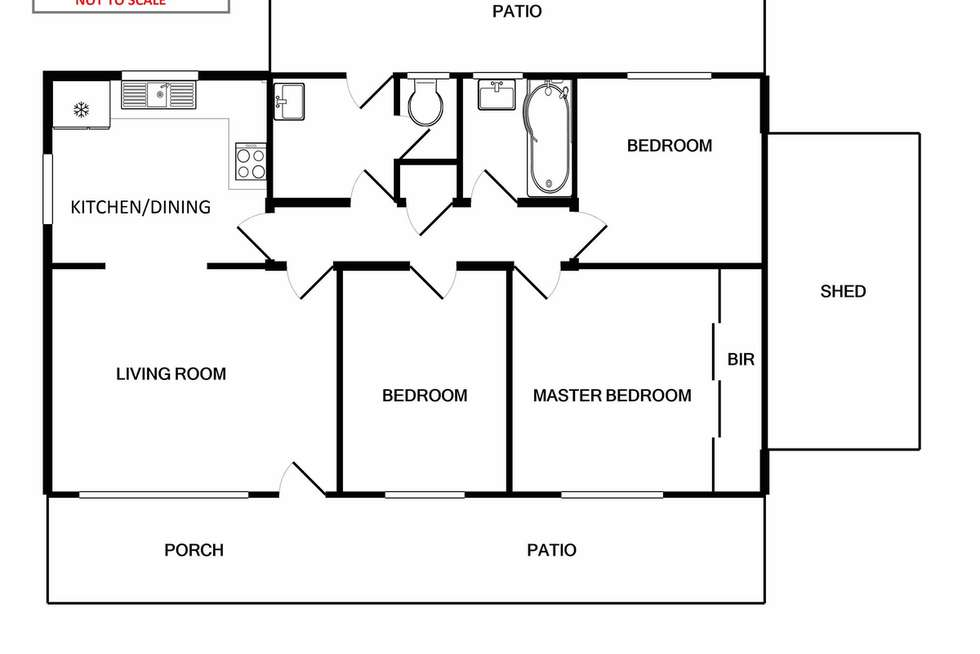 Floorplan of Homely house listing, 99 Manning Road, Bentley WA 6102