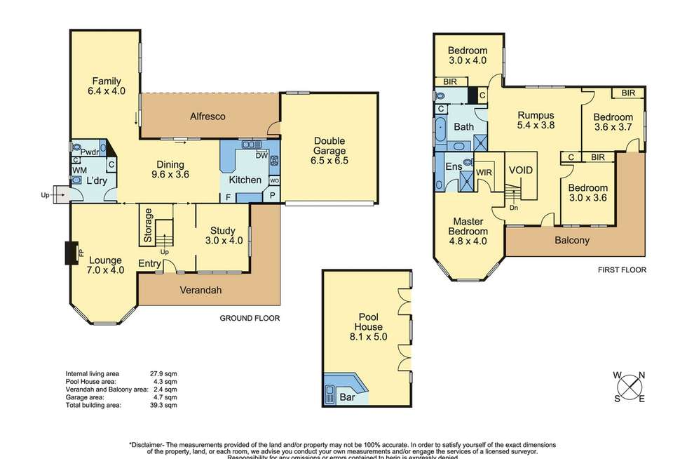 Floorplan of Homely house listing, 7 Rosedale Grove, Frankston South VIC 3199