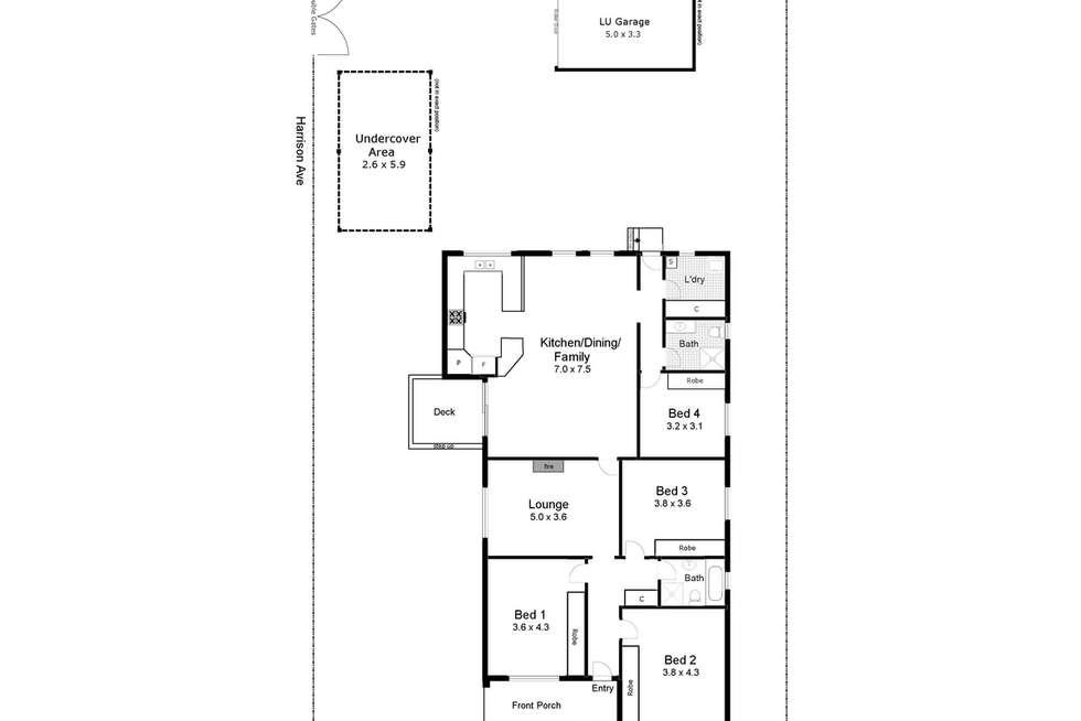 Floorplan of Homely house listing, 19 Hardy Avenue, Wagga Wagga NSW 2650