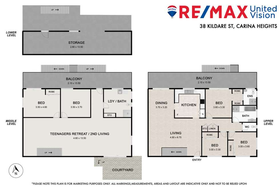 Floorplan of Homely house listing, 38 Kildare Street, Carina Heights QLD 4152