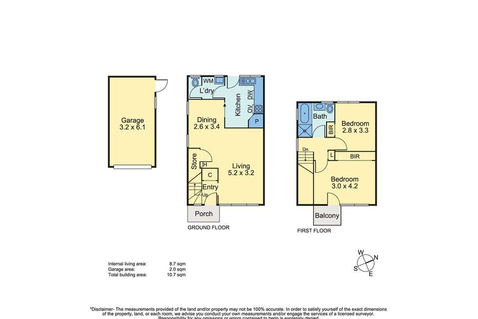 Floorplan of Homely unit listing, 4/2 Cecil Street, Frankston VIC 3199