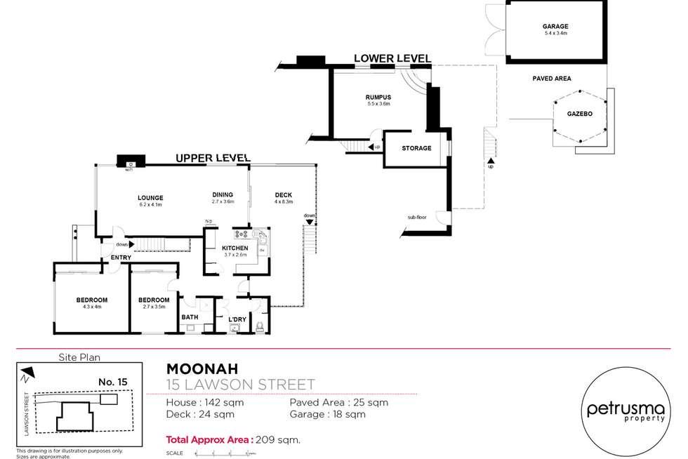 Floorplan of Homely house listing, 15 Lawson Street, Moonah TAS 7009