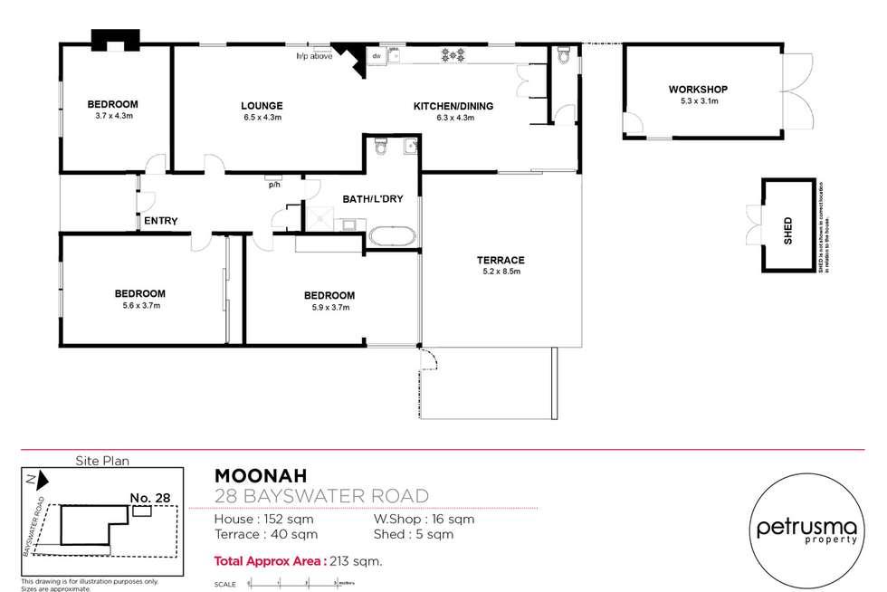 Floorplan of Homely house listing, 28 Bayswater Road, Moonah TAS 7009