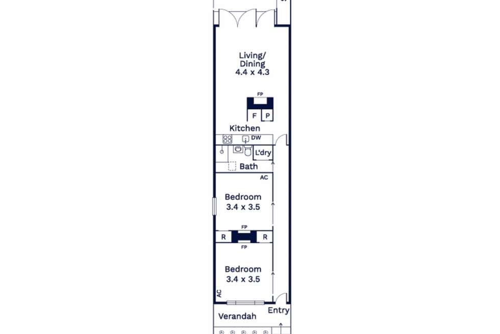 Floorplan of Homely house listing, 76 Hardiman Street, Kensington VIC 3031