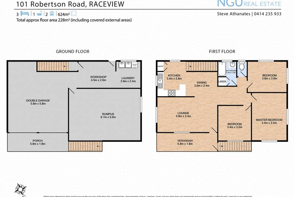 Floorplan of Homely house listing, 101 Robertson Road, Raceview QLD 4305